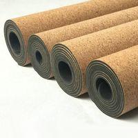 100% Cork and Natural Rubber Yoga Mats-kmr02
