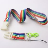 Custom Colorful Polyester Jacquard Lanyard With Breakaway Buckle
