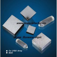 LYSO Crystal array assembly and coating