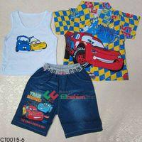 boy's cartoon clothing set, children's clothing set