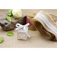 printed jute ribbon for wedding