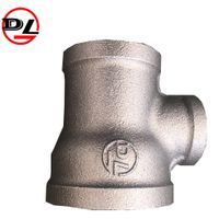 black malleable iron pipe fitting reducing pipe tee thumbnail image