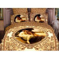 100%cotton active  print bedding set with 5 pcs