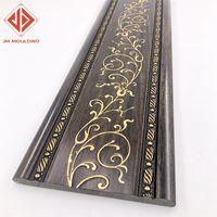 waterproof eco-friendly PS foam polystyrene interior inner wall bankground decorative mouldings line