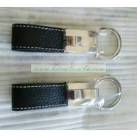 Promotional leather key strap Custom Logo, metal key ring. Can be PU leather or Genuine Leather. Cus