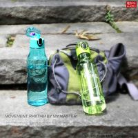Portable hiking tritan sports drink water bottle