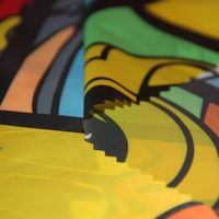 Printed high-density polyester downproof fabric for down jacket thumbnail image