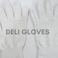 White Cotton Knitted Gloves for safety