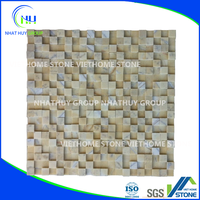 Yellow Square Mosaic Title from Natural Stone