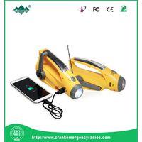 Solar dynamo torch AM&FM radio charger