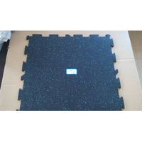 Color flecks shallow lock interlock EPDM rubber flooring tile