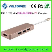 Fast speed newest best price usb 3.1 type c hub with pd charging function thumbnail image