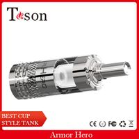 New rebuildable airflow adjustable cup style glass e cig Arnor Hero atomizer