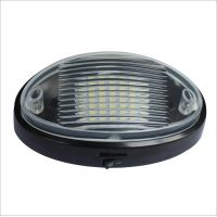 White elliptical LED RV Dome Light