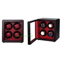 Fashion design durable wooden display winder quad watch winder display with 4 Japanese motors