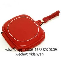 32CM Double grill pan double fry pan