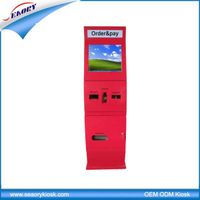 free standing touch screen payment kiosk terminal