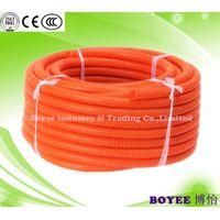 PVC Flexible Corrugated Conduit / PVC Electrical Corrugated Conduit Pipe