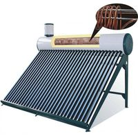 pre-heated cooper coil build solar water heater