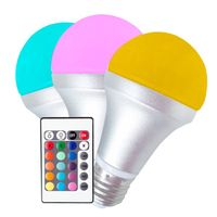 E27/B22 RGB led bulb light with CE certified color-changing and remote controll