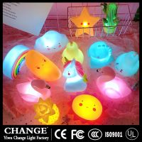 Flamingo Pineapple Cloud Unicorn LED Night Lamp Lights for Baby Children Room Party Wedding decor thumbnail image