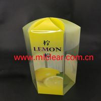 gift packaging PET clear PVC plastic box