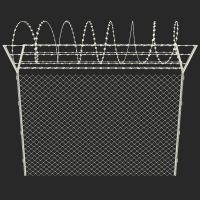 Temporary Chain Link Fence Panels with barb wire thumbnail image