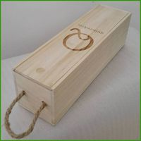 unfinished wooden wine gift box