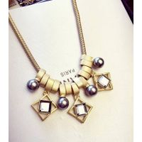 fashion new design irregular crystal pearl necklace alloy necklace for woman