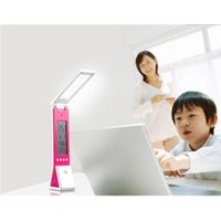 Foldable and free angle adjustable table lamp with emergency light