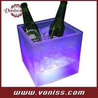 Plastic LED Ice Drink Bucket Flash Champagne Beer Flash Light Up Bar Bucket