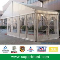 10m wide wedding tent with clear window