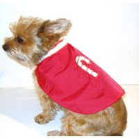 Candy Cane Canine Raincoat