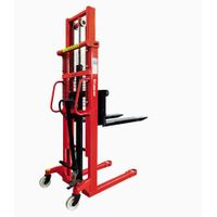 1 ton 1.6m Hydraulic Pallet Manual Hand Stacker Forklift Price thumbnail image