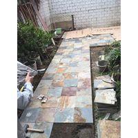 natural rusty slate stone tile 300x300mm thumbnail image