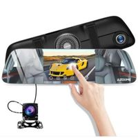 AZDOME PG01 Mirror Dashcam Touch Screen, FHD 1080P G-sensor Parking Monitor Recording