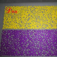3mm Rectangle heat resistant Felt Table Runner dyed color high quality laser cutting Table Mats thumbnail image