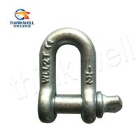 G210 Us Type Drop Forged Screw Pin Chain Dee Shackle