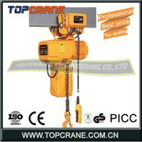 0.5 ton1t 2t 3t 5ton Electric Chain Hoist With Trolley