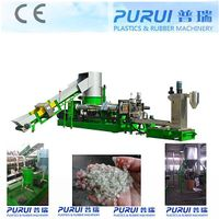 Plastic recycling machine with high effectively exhausting, filter
