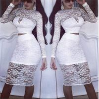 The Wholesale lace long-sleeved suit woman bodycon dress