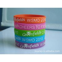 embossed silicone bracelet with custom logo