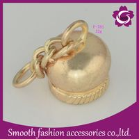 Zinc Alloy Silver Metal Rope Bell Shape End Cord Stopper thumbnail image