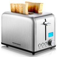 ST029 Stainless Steel Toaster w/LCD Timer 1.5 inch Extra-Wide Slots thumbnail image