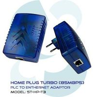 Home Plug Turbo (85Mbps) PLC To Ethernet Adaptor ST-HP-T3
