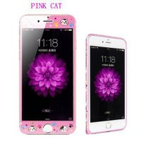 phone tempered glass film pink cat