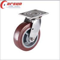 Heavy Duty Stainless Steel Caster with Polyurethane Wheel