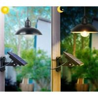 RETRO SOLAR SHED LIGHT HANGING LAMP FOR INDOOR OUTDOOR LIGHTING