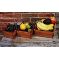 Fruit Holder, Wooden Fruit Holder For Kitchen, Set Of 3 thumbnail image