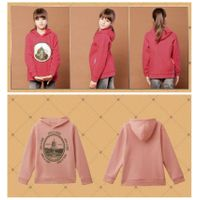 Girl pullover fleece warm hoodie for autumn and winter thumbnail image